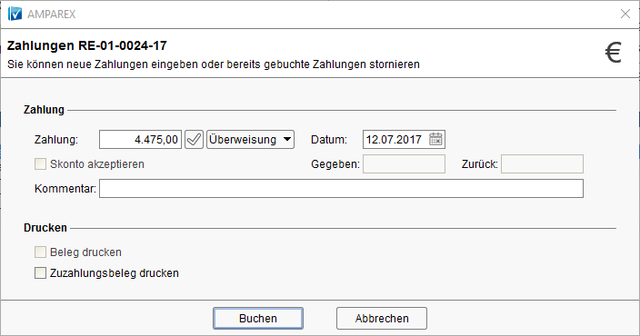 Bezahlen Zahlungen Mahnungen Handbuch Deutsch Amparex Gmbh